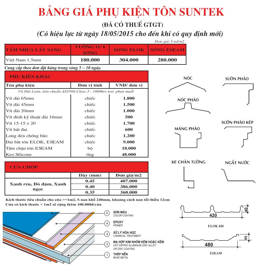 SUNTEK Accessories Price List