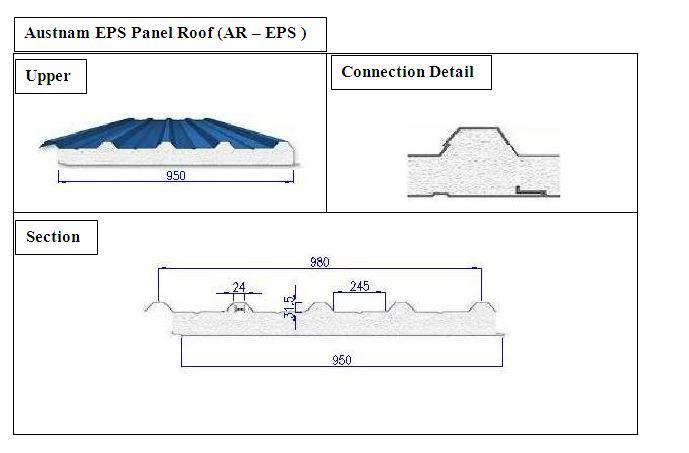 Austnam EPS Panel Roof